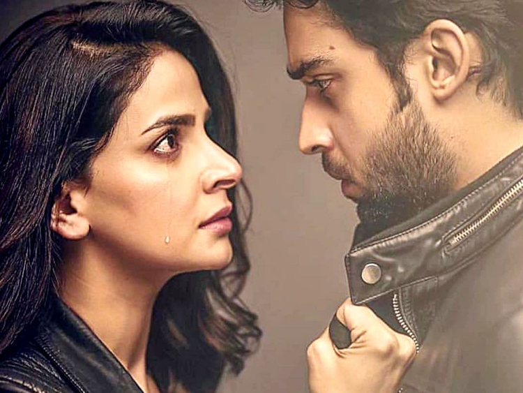 Saba-Qamar-and-Bilal-Abbas-Khan-in-a-still-from-the-play-CHEEKH-1550470110792