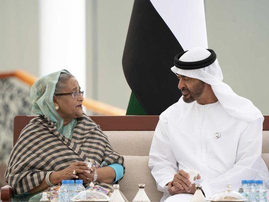 Shaikh Mohammad Bin Zayed meets with Sheikh Hasina 20190218