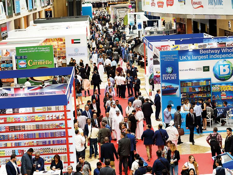 Visitors and delgates at Gulfood 2019