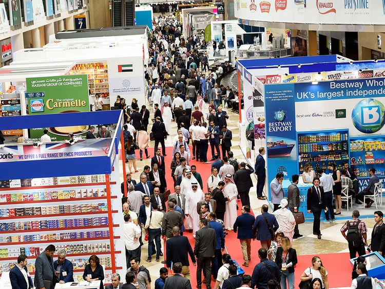 Visitors on the opening day of Gulfood 2019