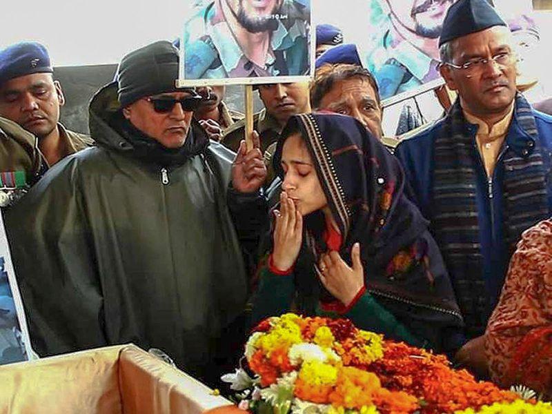 Nitika Kaul, wife of Major Vibhuti Shankar Dhoundiyal