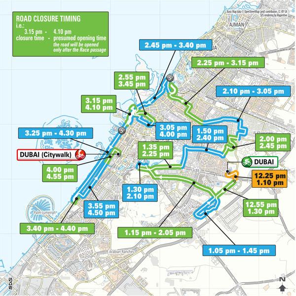 UAE Tour Dubai Safari-City Walk map