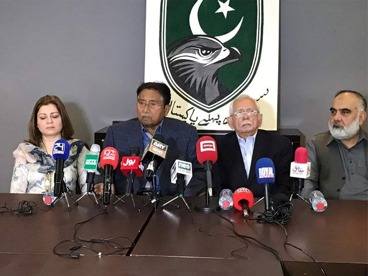 Musharraf press conference Dubai