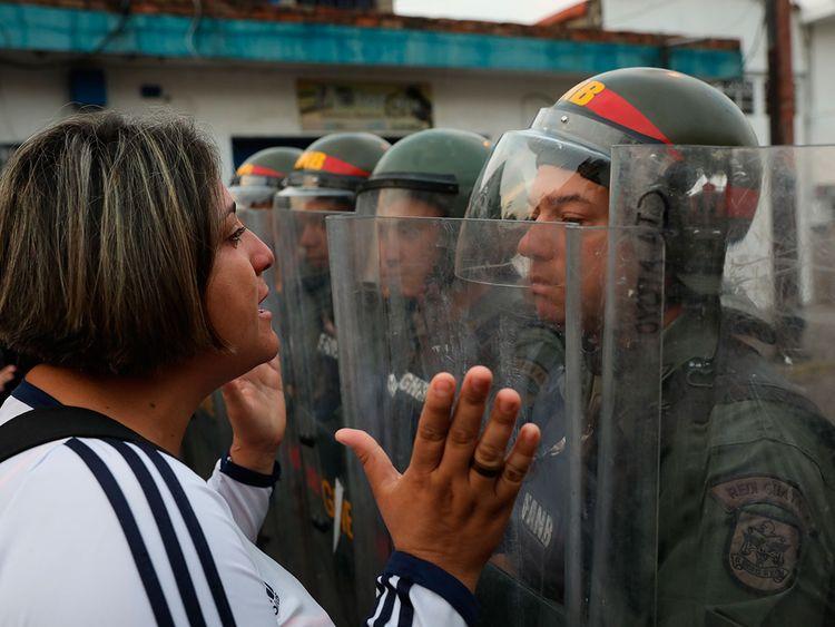 Bolivarian National Guard in Urena