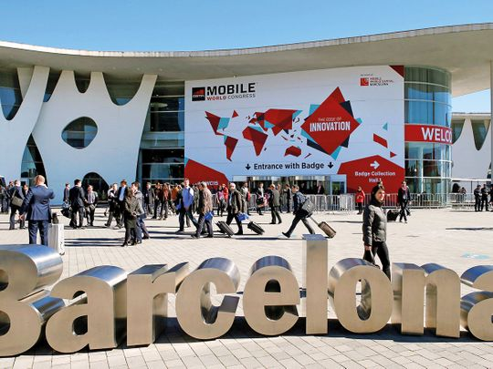 Delegates at the MWC in Barcelona