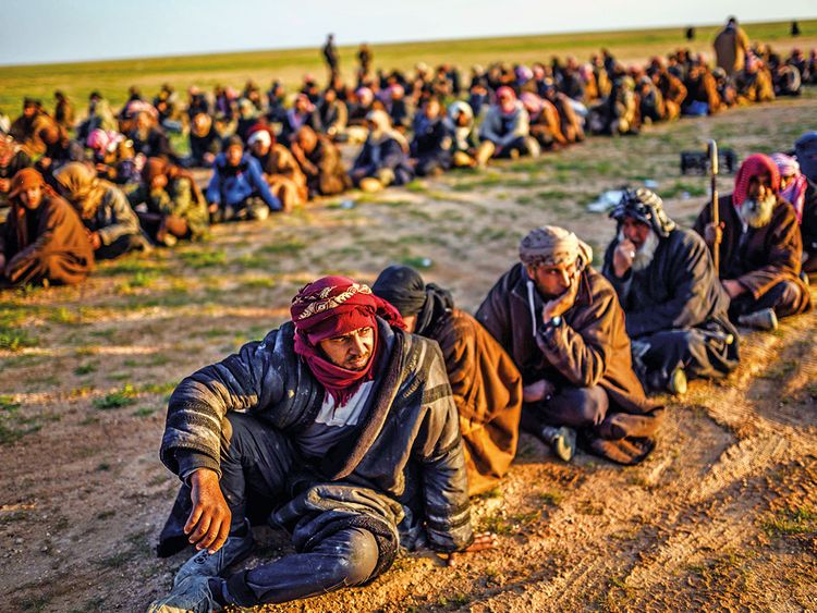 Men suspected of being Daesh fighters