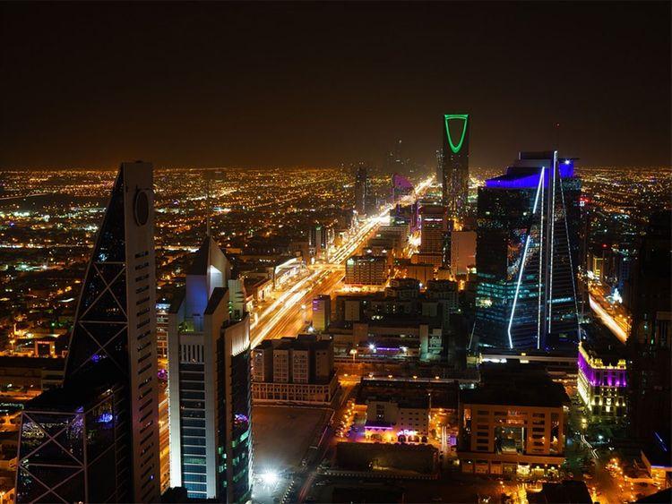 Riyadh skyline, Saudi Arabia.