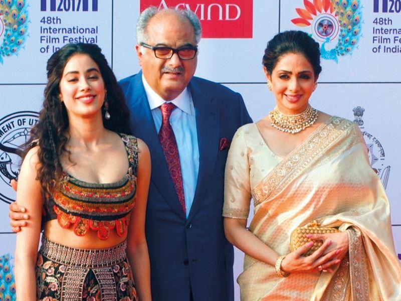 Sridevi along with her husband Boney Kapoor