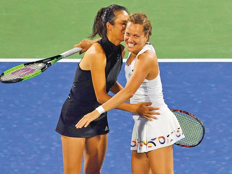 Su-wei Hsieh and Barbora Strycova
