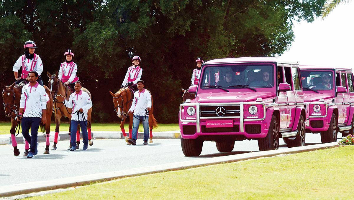 The Pink Caravan Ride begins