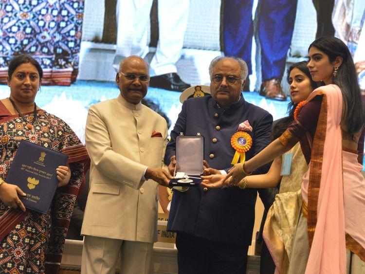 tab-Boney-Kapoor-and-his-daughters-at-the-National-Awards-1550900491969