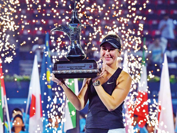 Belinda Bencic with the trophy