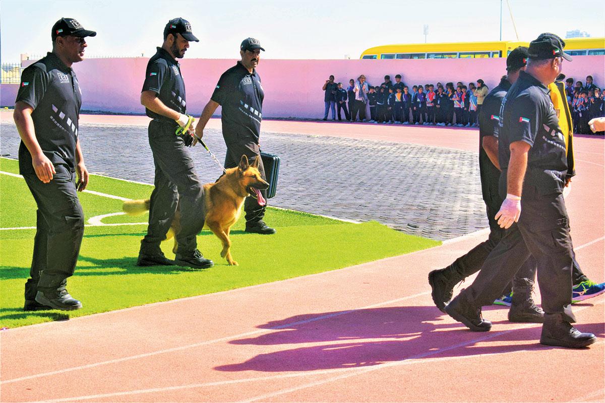 Dubai Police officials