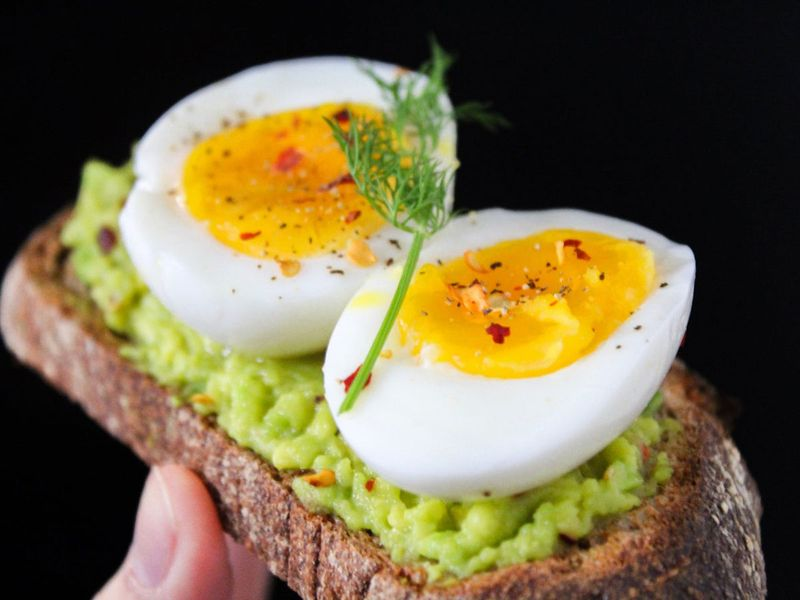 Healthy eggs on toast