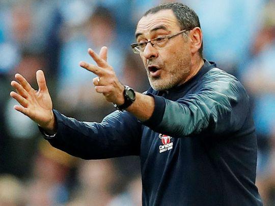 Chelsea's head coach Maurizio Sarri
