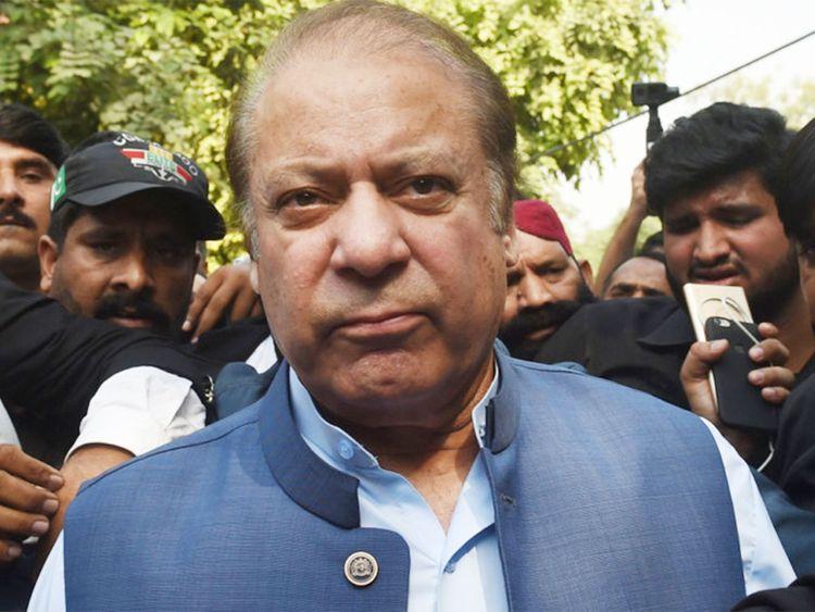 Former Pakistani prime minister Nawaz Sharif.