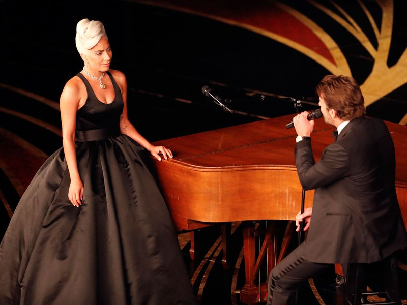 Lady Gaga and Bradley Cooper perform together at the Oscars
