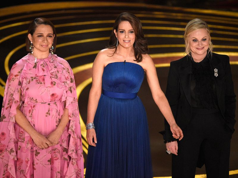 Tina Fey, Maya Rudolph and Amy Poehler stepped up to the plate before presenting the award for best supporting actress.