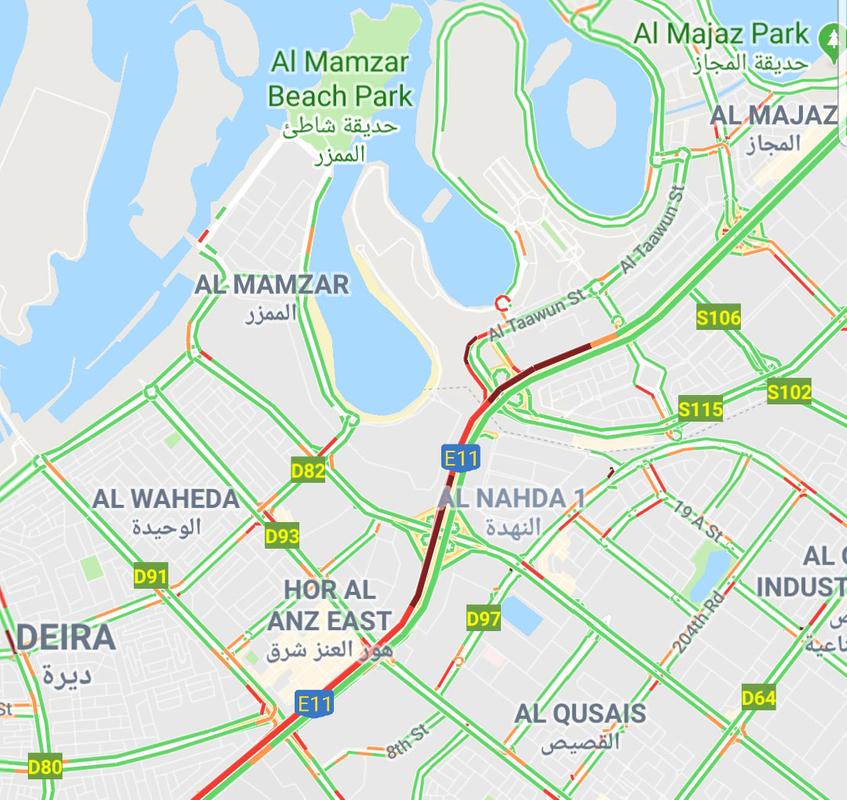 190226 traffic in Sharjah