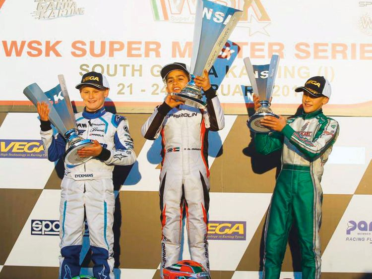 Al Dhaheri delivers resounding victory in WSK Super Master Series