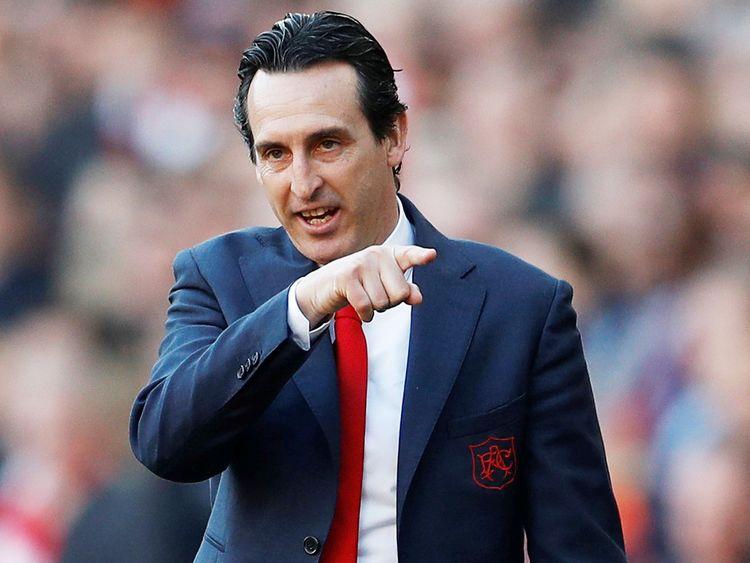 Arsenal's head coach Unai Emery