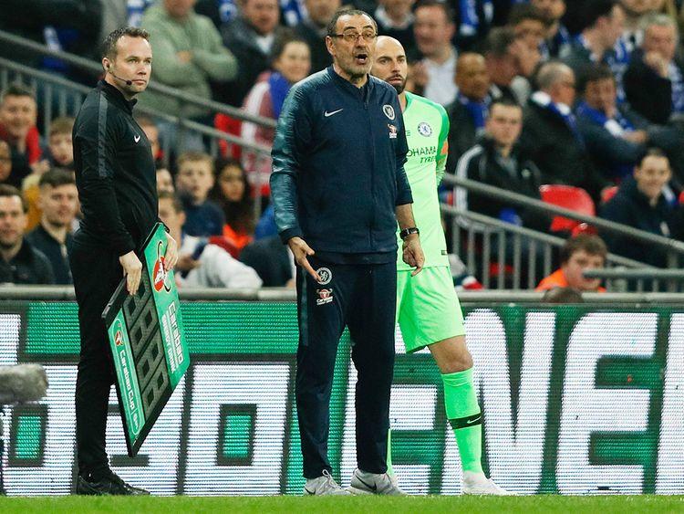 Chelsea's coach Maurizio Sarri