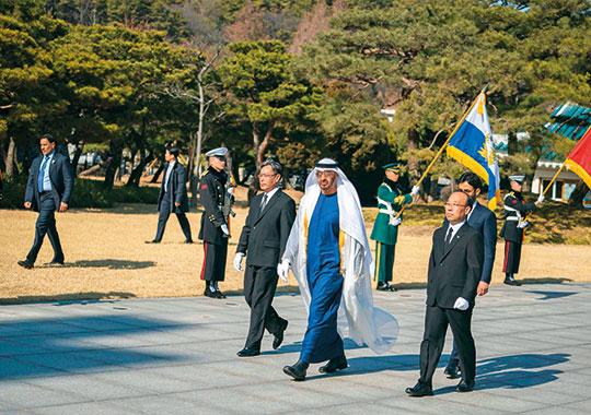 Shaikh Mohammad Bin Zayed korea