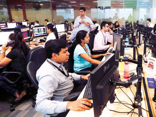 Trading floor at a Financial Services