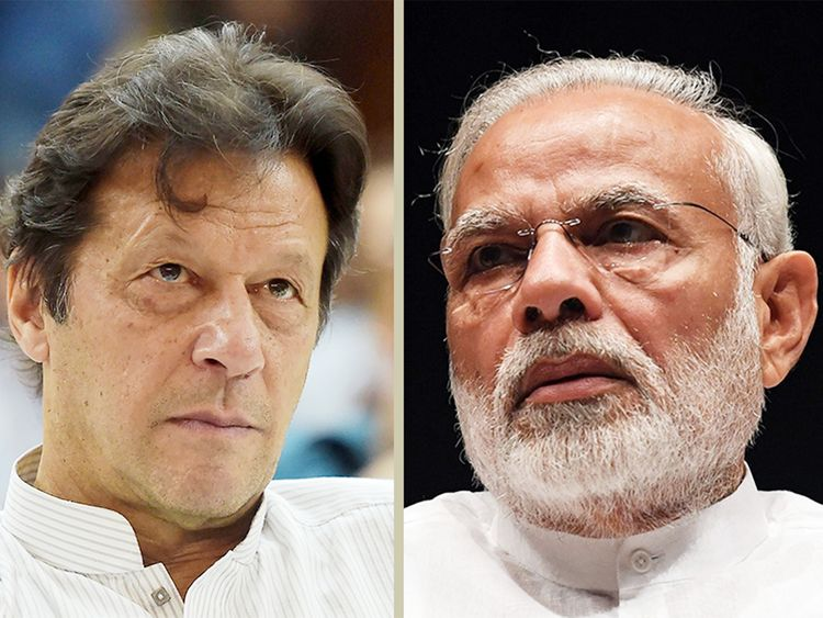 Pakistani PM Imran Khan and Indian PM Narendra Modi.
