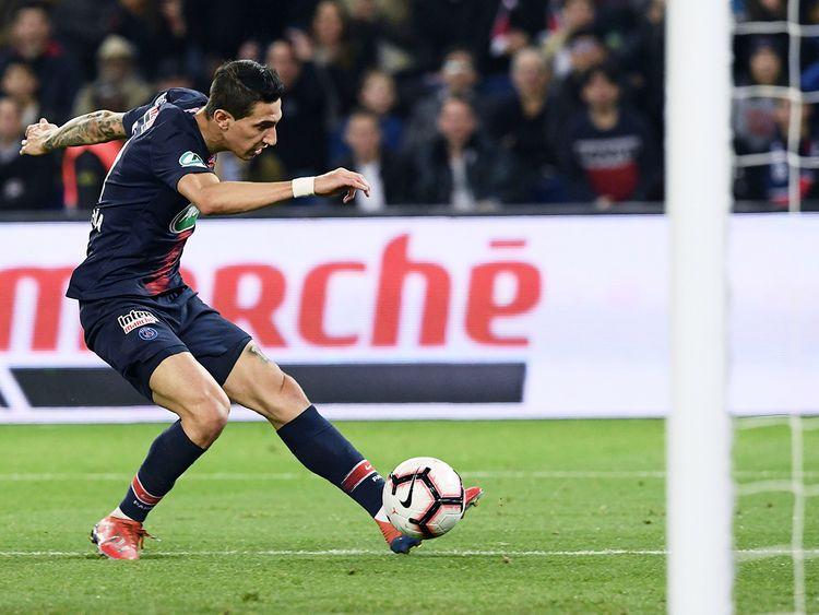 Paris Saint-Germain's midfielder Angel Di Maria