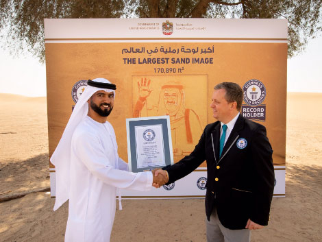 UAE Guinness World Record of largest sand image