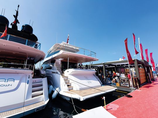 Vessels on display at the boat show