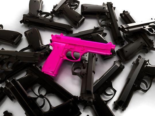 A pile of guns 1
