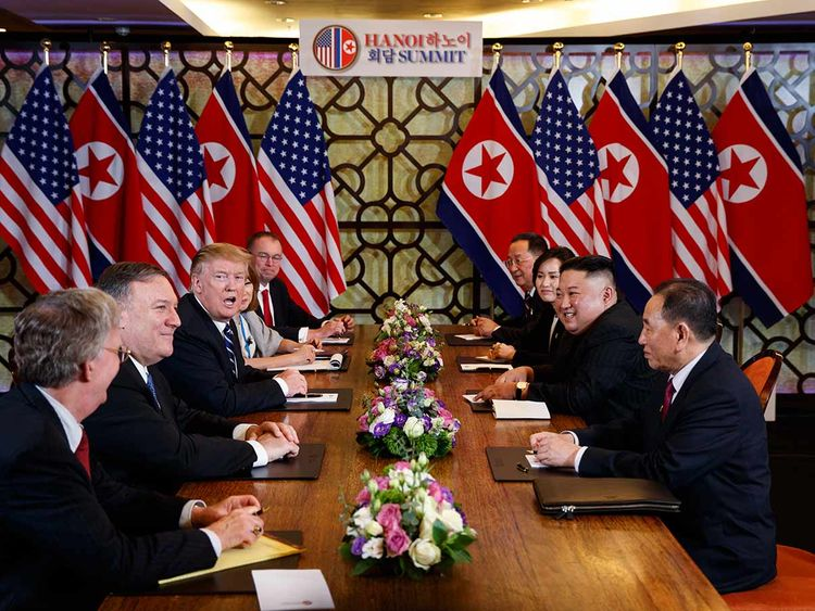 Trump Kim meeting in Hanoi 20190228
