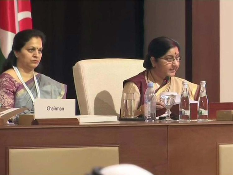 Sushma Swaraj at OIC 2019