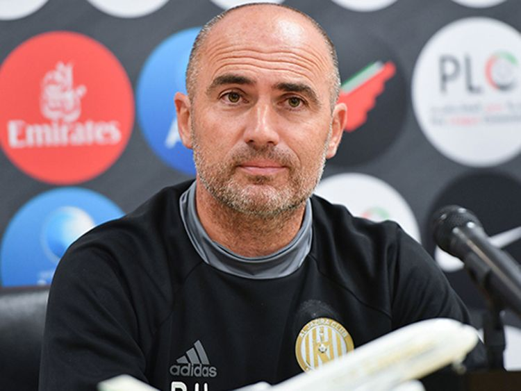 Al Jazira coach Damien Hertog