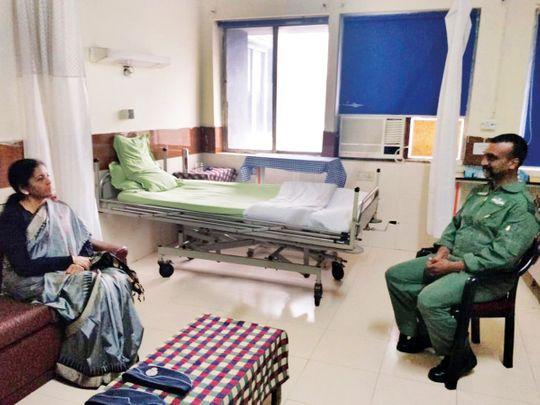 Defence Minister Nirmala Sitharaman with Abhinandan Varthaman