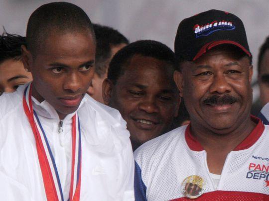 boxing champion Eusebio Pedroza