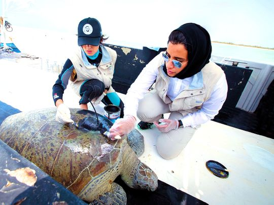 Maitha Al Hameli with Razan Al Mubarak