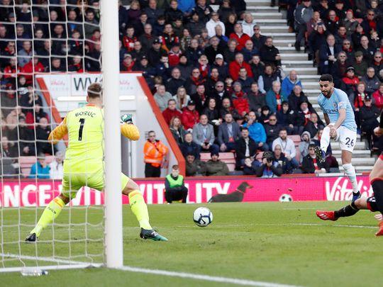 Manchester City's midfielder Riyad Mahrez