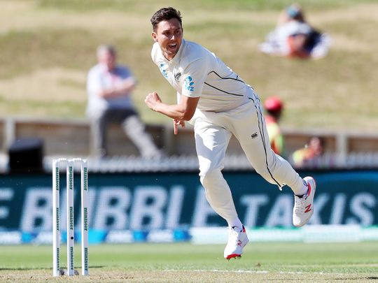 New Zealand's Trent Boult bowls