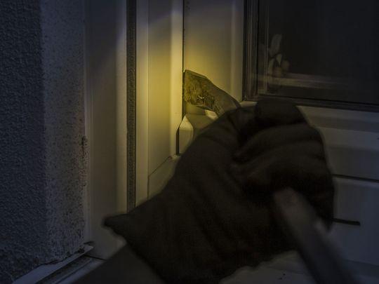 Burglar at night
