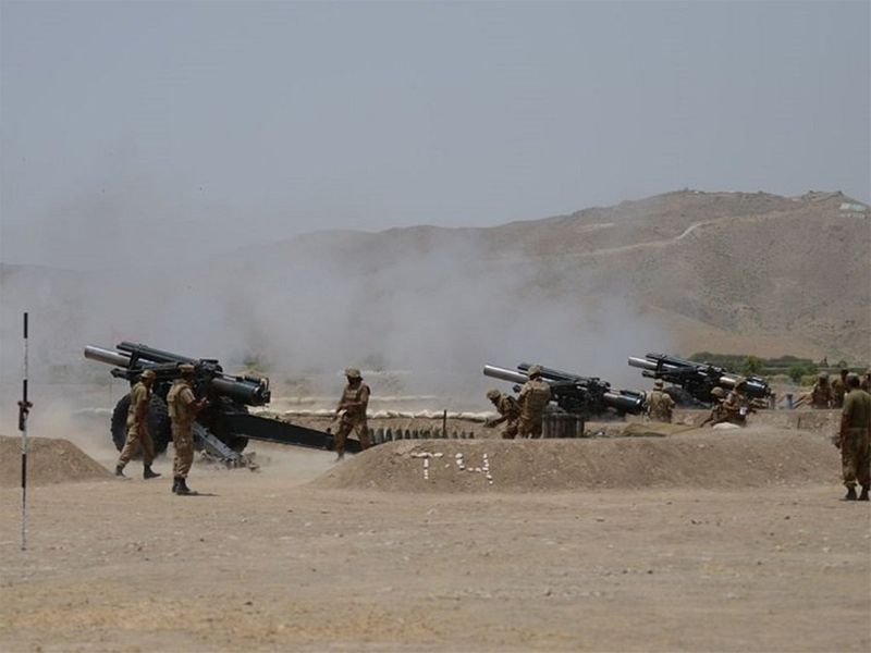 Artillery targeting terrorists hideouts in Miranshah