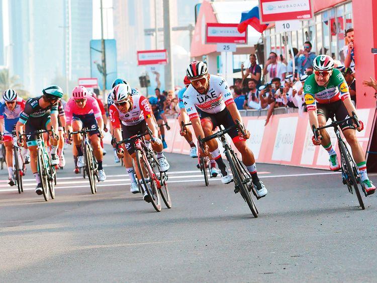 UAE Team Emirates rider Fernando Gaviria
