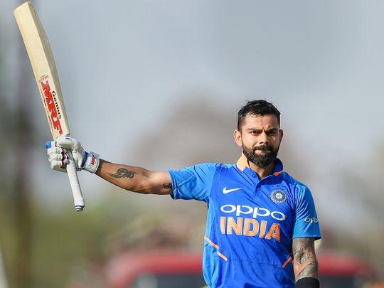 Virat Kohli celebrates century