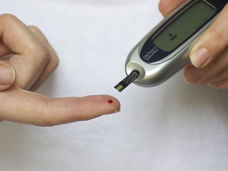 Diabetes Blood Finger Glucose Diabetic Test Meter