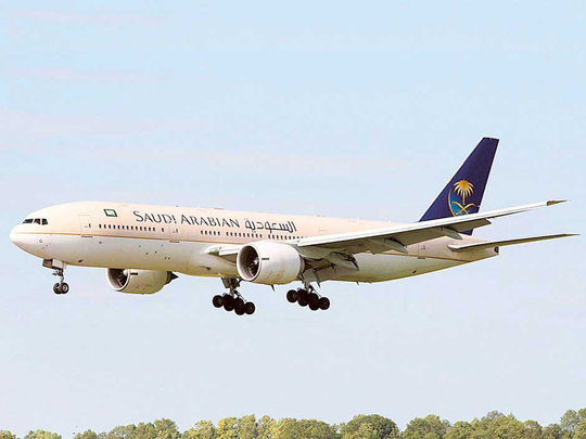 A Saudia aircraft