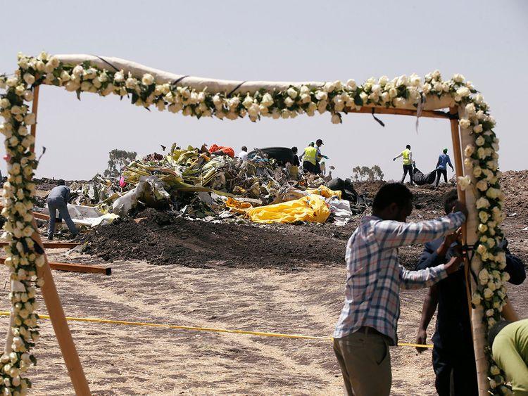 Ethiopians prepare a commemoration ceremony
