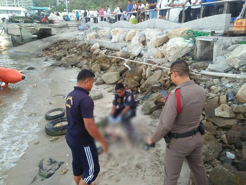 Thai police investigating the incident 01