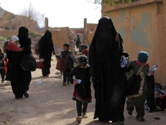 Families of Daesh fighters 20190314